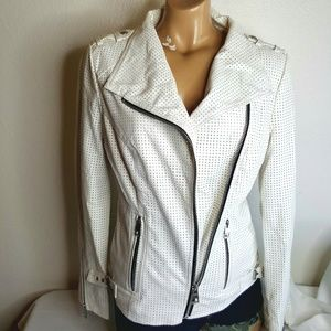 Guess Jeans white moto jacket S